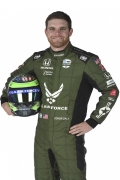 Conor Daly met helm