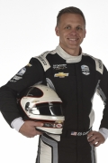 Ed Carpenter met helm