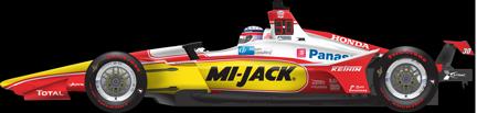 Takuma Sato car side Indianapolis