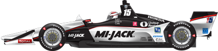 Graham Rahal car side Gateway