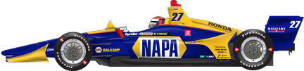 Alexander Rossi car side Gateway