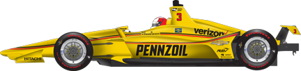 Hélio Castroneves car side Indy 500