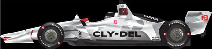 Santino Ferrucci car side IndyGP