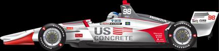 Marco Andretti car side Road America