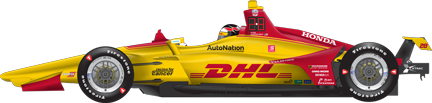 Ryan Hunter-Reay car side Texas