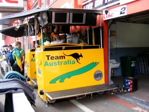 De Timingstand van Team Australia
