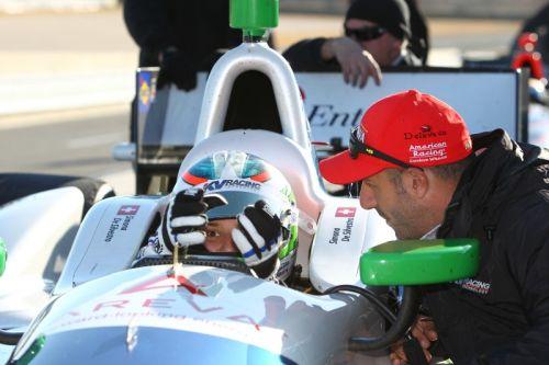 Tony Kanaan, Simona de Silvestro, Barber Motorsports Park