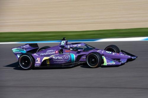 Romain Grosjean op de Indianapolis Motor Speedway