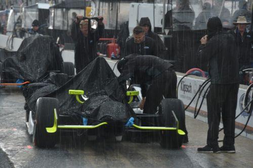 Regen op de Indianapolis Motor Speedway