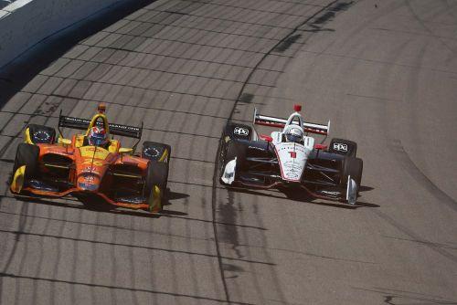 Zach Veach en Josef Newgarden, Iowa Speedway