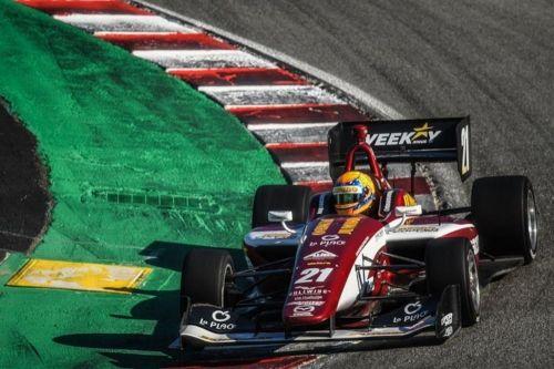 Rinus Veekay in de Indy Lights op Laguna Seca