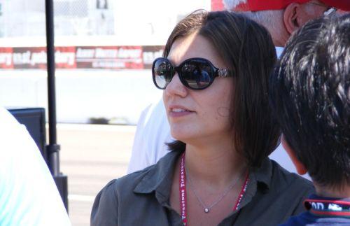 Katherine Legge was aanwezig in St. Petersburg