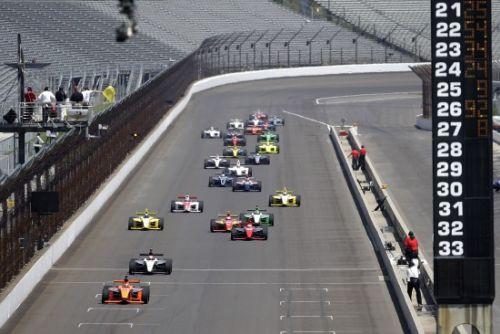 De start van de Indy Lights race op Indianapolis