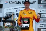 Ryan Hunter-Reay wint de race op Sonoma Raceway