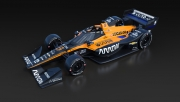 De 2020 kleurstelling van McLaren