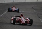 Scott Dixon leidt voor Graham Rahal op de Texas Speedway