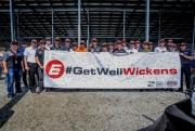 De IndyCar-coureurs met een boodschap voor Robert Wickens op Gateway