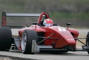 James Hinchcliffe tijdens de open test op de MSR Houston