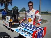Junior Strous tijdens de test op Sebring