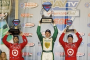 Ed Carpenter, Scott Dixon, Dario Franchitti, Fontana