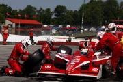 Scott Dixon maakt zijn laatste pitstop op Mid-Ohio