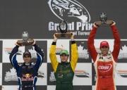 Het podium na de race in Toronto