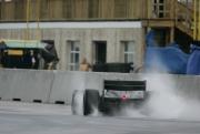 Graham Rahal tijdens de open test op de MSR Houston
