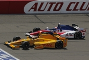 Ryan Hunter-Reay voor Jack Hawksworth, Fontana