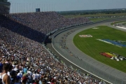 De start van de eerste IRL race op Chicagoland in 2001