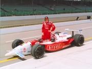 Arie Luyendyk voor zijn Indy 500 zege in 1996