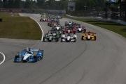 Start van de Honda Indy 200 op Mid-Ohio
