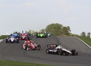 Will Power leidt Scott Dixon op het Barber Motorsports Park