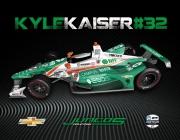 De kleurstelling voor Kyle Kaiser, Indianapolis