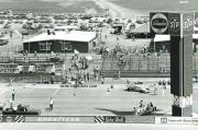 De pitstraat van de Pocono Raceway in 1971