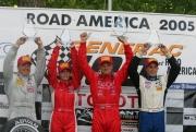 Het Toyota Atlantic podium in Road America