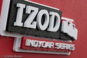 Rain on IZOD Series Logo, Milwaukee Mile