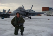 Mario Dominguez op de Royal Canadian Air force in Cold Lake, Alberta