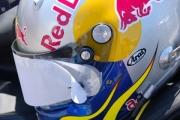 Helm AJ Allmendinger klaar voor de race