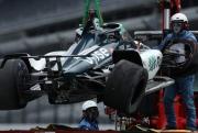 De gecrashte wagen van Fernando Alonso, Indianapolis