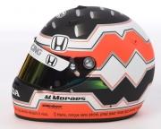 De helm van Mario Moraes