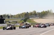 Will Power leidt de start op het Barber Motorsports Park