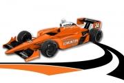 De kleurstelling van de #34 Conquest Racing wagen