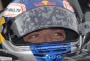Robert Doornbos tijdens de open test op Sebring