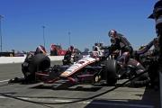 Will Power maakt een pitstop op de Sonoma Raceway