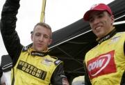 RuSport coureurs AJ Allmendinger en Justin Wilson vieren voorlopige eerste startrij