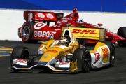 Ryan Hunter-Reay voor Dario Franchitti op de Sonoma Raceway
