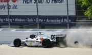 Graham Rahal crasht tijdens de race op de Milwaukee Mile
