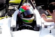 Justin Wilston tijdens test op California Speedway