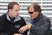 Robert Doornbos met Arie Luyendyk in Indianapolis