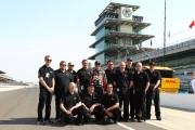 Kurt Busch met het Furniture Row Racing team op Indianapolis